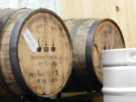I'm coming back when they open these whiskey barrels filled with porter and red ale.