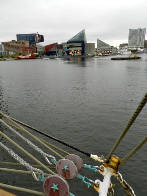 Baltimore's Harbor frm the deck of the USCG's Eagle.