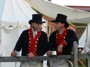 Reenactors kept up with the action and with each other.