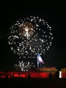 Fireworks over Fort McHenry, one of four fireworks displays Sept. 13.