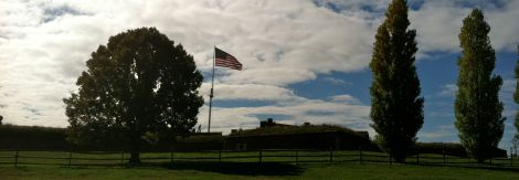 "Fort McHenry, where courageous Baltimoreans fought off the British. Francis Scott Key memorialized the events of the Battle of Baltimore in the ""Star Spangled Banner."""