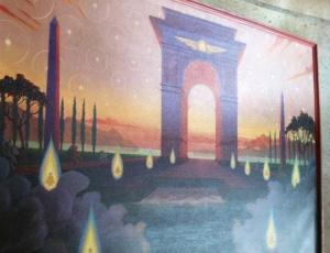 Ingo Swann's Gateway, painted in oils in 1989. Swann is considered a pioneer in the field of