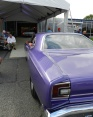 A purple Road Runner on its way inside for the auction.