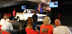 The bidding went fast and the cars went faster at the Carlisle Car Auction.