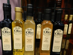 Besides wine, the shop has a few food and wine related items for sale, including an array of olive oils.