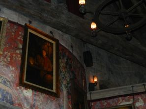 Take a walk through the castle, whether or not you ride The Forbidden Journey. The portraits talk to you.