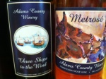 Three Ships to the Wind mixes some peach in with the chambourcin, cabernet and noiret.