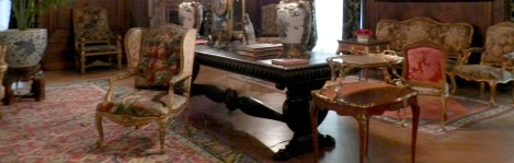 The Vanderbilt's furnishings reflect their lavish lifestyle.