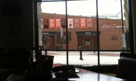Dempsey's looks out on Oriole Park.
