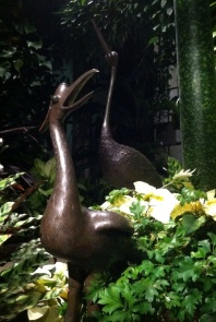 The Longwood cranes. Birds were a big part of this year's decorations all around Longwood Gardens.