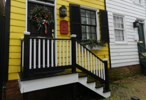 Holiday cheer on Pinkney Street.