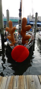 Is that you, Rudolph? A bit of whimsy at City Dock.