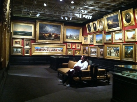 A recreation of the gallery the Walters had installed in their townhouse in Mount Vernon.