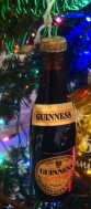 The Guinness bottle hanging from our tree is only about three inches high.
