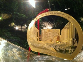 I hear arias when I hang this Lincoln Center ornament on my tree.