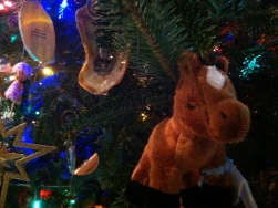 Other people buy the stuffed toy pony for their kids. I bought this one in Chincoteague for my Christmas tree.