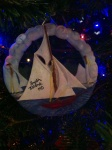 From my Christmas blog on souvenirs: Lots of sails fly from the ornament from Smith Island.