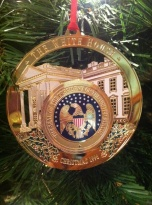 We visited the White House nearly 20 years ago. We brought home this shiny memento.