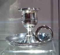 This little chamber candlestick, made in Baltimore in 1815, started the BMA's silver collection. It was donated by Virginia P.B. White.