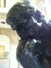 I wonder what Rodin's famous Thinker was pondering.