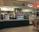 Pizza, sandwiches, and more casual fare is available at the food court.