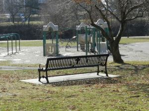 Baker Park has plenty of space to run around and a playground for the little ones.
