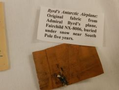 Bjorlee Museum at the Maryland School for the Deaf has all kinds of amazing little souvenirs, including this snippet of fabric from a plane from  Admiral Byrd's South Pole expedition.