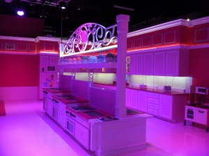There's plenty of room and lots of activities in Barbie's kitchen — if you know to look for them.