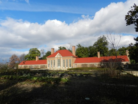 The greenhouse at Mount Vernon, home of George and Martha Washington, on the Potomac River.