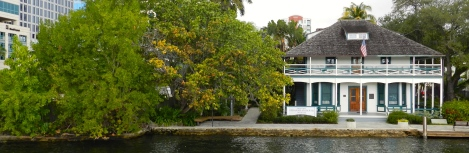 The Stranahan House as viewed from the river.
