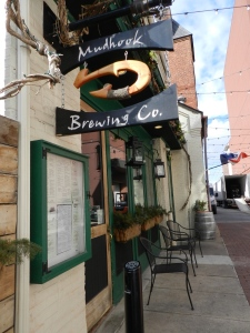 Mudhook Brewing has entrances inside Central Market and on Cherry Lane around the corner In warmer weather, there's outdoor dining here, too.
