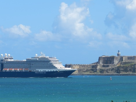 Bacardi's waterfront location offers views of El Morro and the occasional cruise ship entering the harbor.