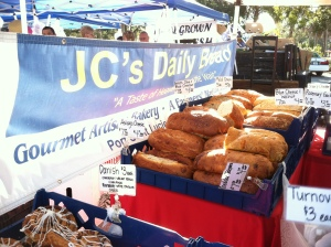 You can get whole wheat — or blue cheese and walnut or raspberry and white chocolate or one that smells and tastes like Italian. Please JC's Daily Bread; move here!