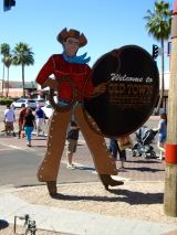 You gotta like your Old West kitsch here in Old Towson Scottsdale. A cowboy welcome partner!