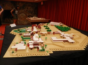 1n 180,000-piece Lego model of Taliesin is part of the tour — for the time being, at least.