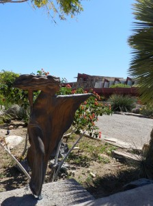 Sculpture by Heloise Krista graces the gardens and the sculpture garden.
