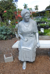 Mina Edison was one of three women to put their own mark on the Edison Estate. She is remembered with this sculpture in the garden.
