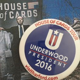 Pick up a button along with the House of Cards self-guided tour and you'll be ready for the next presidential election.