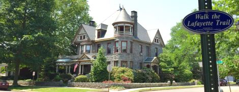 The Spencer-Silver Mansion is a beauty along leafy Union Avenue. A pretty B&B, too.