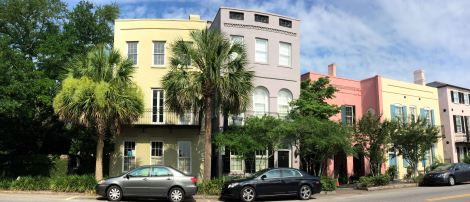 Rainbow Row is one of the most famous and most photographed blocks of houses in Charleston.