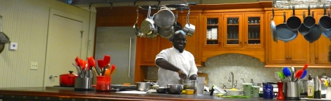 Chef Blair is all smiles as he shares his love of cooking at Charleston Cooks!