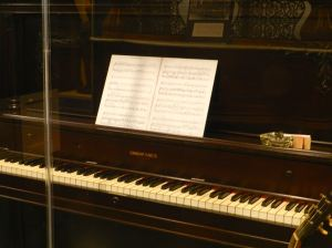 """George Gershwin composed his opera """"Porgy and Bess"""" on this piano."""