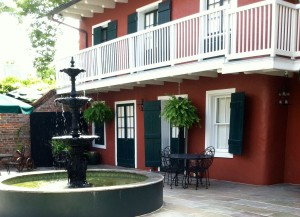 The courtyard of the Maison de Ville, in New Orleans' French Quarter.