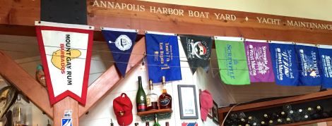 You can't miss the nautical tchotchkes at the Boatyard in Eastport.