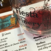 Five tastes of Fiesta wines and a stemless souvenir glass cost $10.