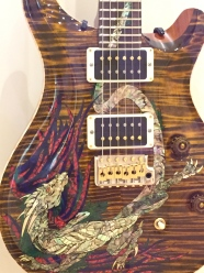 A work of art even when it's silent, this was created by Paul Reed Smith Guitars, whose studio is on Maryland's Eastern Shore.