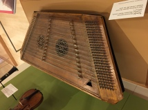 This dulcimer, called a thimble, was made in Ukraine's Carpathian Mountains in the early 20th Century. It was used by a klezmer band in the United States.