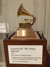 While most of the displays celebrates the artistry of unknown musicians, there are nods to musicians we know and love, including Roy Orbison whose Grammy for 'Oh Pretty Woman' is on display
