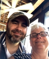 The selfie was idea of the band's lead singer. I never thought I'd have my picture taken with a country singer.