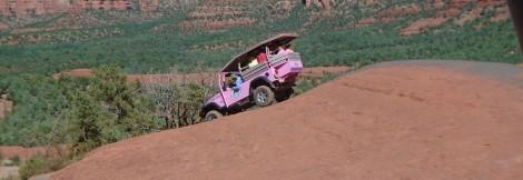 An off-road tour of Broken Arrow Trail near Sedona, Arizona, has its ups and downs.